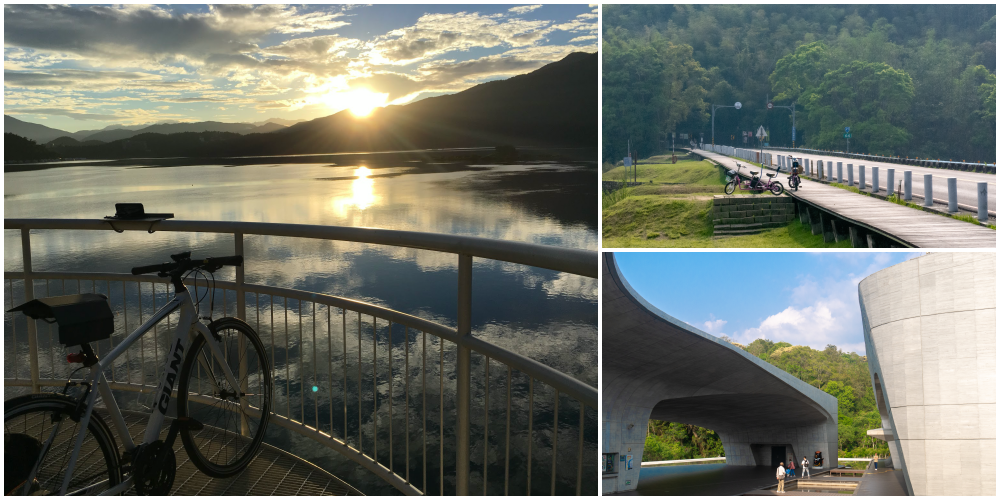 南投魚池景點。日月潭環湖自行車道(向山自行車道),世界級十大最美車道,最美清水模「向山遊客中心」