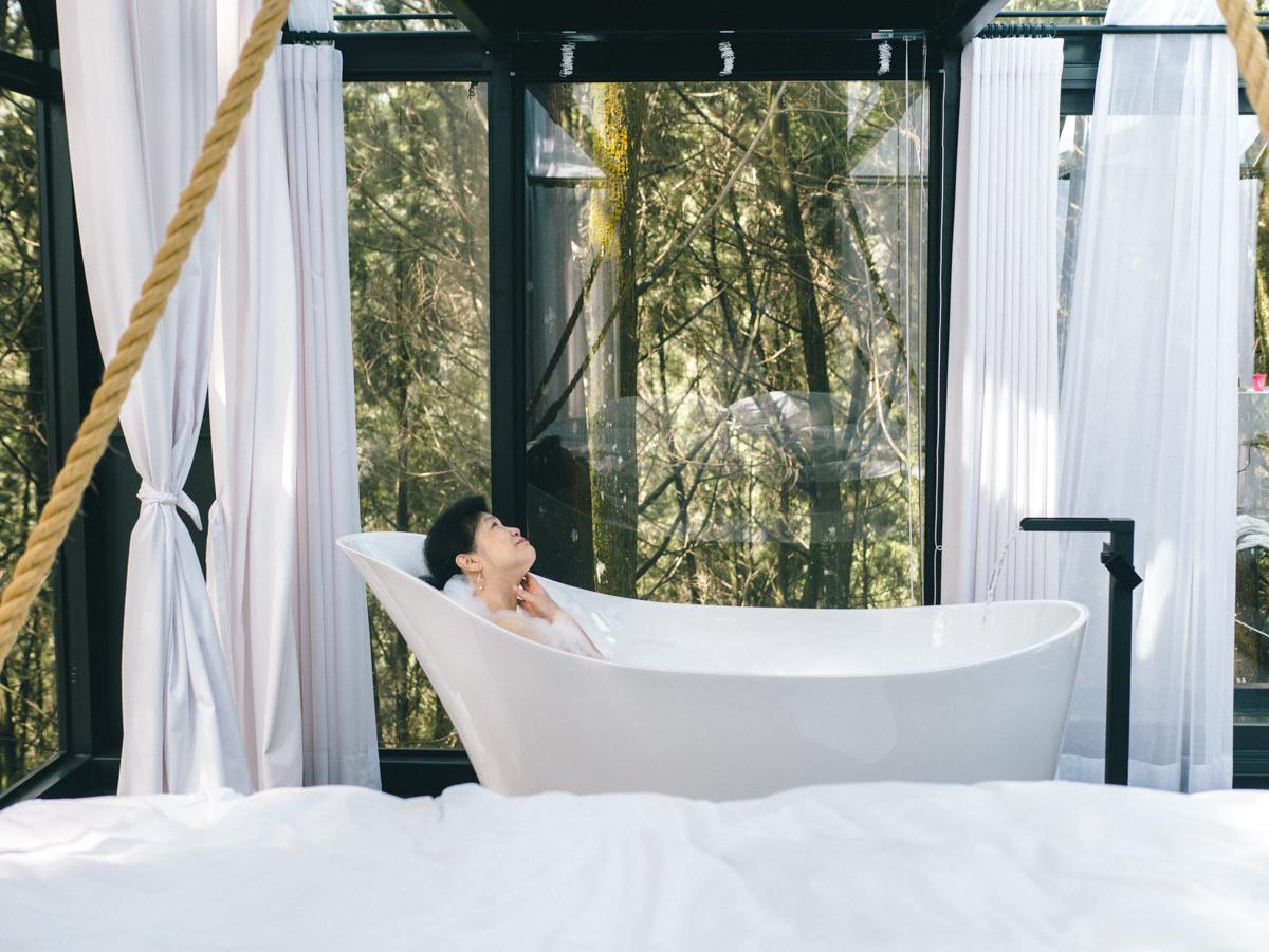 南投住宿。瘋之谷(九樹森林二館)|野生森林秘境玻璃屋,以天地為家,入睡無敵星空吊床