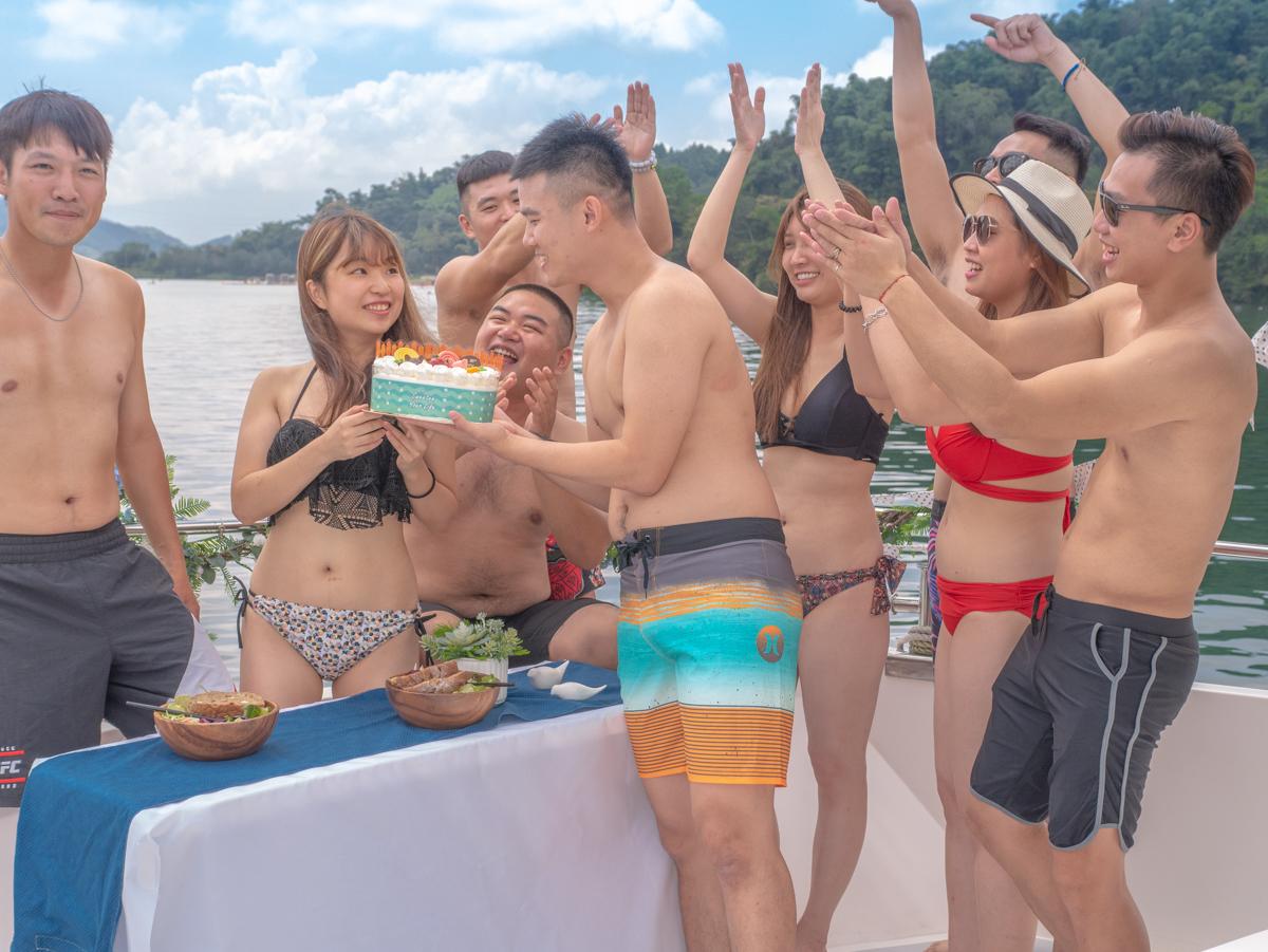 日月潭全新玩法搶先看。日月潭新東方號|包船私人秘境遊湖,慶生開趴、遊艇貴婦下午茶