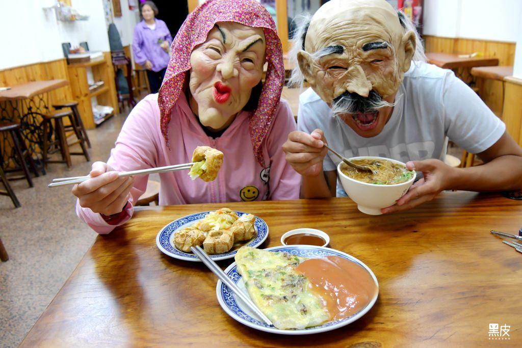 【桃園龍潭※美食】迪化街大腸紅麵線-龍潭店。傳承兩代的好滋味。臭味飄香的臭豆腐必點